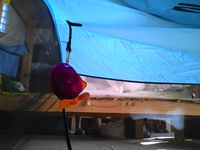disaster response mosquito tent