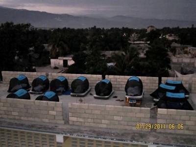 Disaster Volunteers Mosquito Net Tents