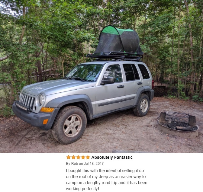 Tent on Jeep